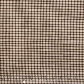 Petite Cotton Woven - Brown Check Yardage