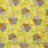 Safari Expedition - Elephant Yellow Yardage