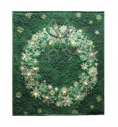 Stonehenge Green Wreath Starry Night 2 Wall Hanging Kit with Lights