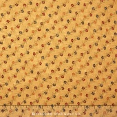 Sunflower Song - Floral Notes Tan Yardage