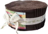 Bella Solids Brown Jelly Roll for Moda Fabrics SKU# 9900JR 71