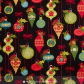 Tole Christmas - Ornaments Midnight Yardage