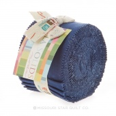 Bella Solids Admiral Blue Junior Jelly Roll by Moda