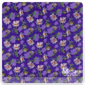 Grace - Small Daisy Purple Yardage