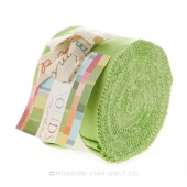 Bella Solids Lime Junior Jelly Roll