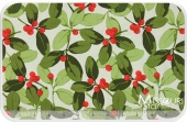 Poinsettia & Holly - Holly Red Yardage