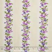 Fresh Lilacs - Cream Vine Stripe Yardage
