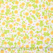 Cozy Cotton Flannels - Tiny Yellow Flowers Yardage