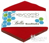 Bella Solids Red Honey Comb