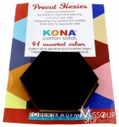 Kona Cotton - Dark Hexie Cuts
