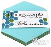 Bella Solids Robin Egg Honey Comb