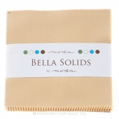 Bella Solids Parchment Charm Pack by Moda