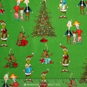 How the Grinch Stole Christmas 5 - Christmas Grinch Collage Holiday Yardage