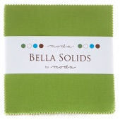 Bella Solids Fresh Grass Charm Pack