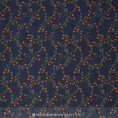 Sunflower Song - Vine Melody Navy Yardage