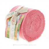 Bella Solids 30's Pink Junior Jelly Roll by Moda