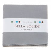 Bella Solids Steel  Charm Pack by Moda