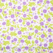 Cozy Cotton Flannels - Tiny Lilac Flowers Yardage