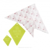 Periwinkle Templates & Triangle Piecing Papers Bundle (4 pcs)
