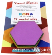 Kona Cotton - Bright Hexie Cuts