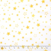 Cozy Cotton Flannels - Yellow Stars Yardage