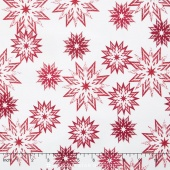 The Forever Collection - Snowflake Mix Peppermint Yardage