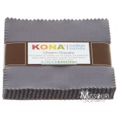 Kona Cotton - Coal Charm Pack