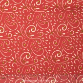 Very Merry - Scroll Berry Yardage