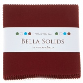 Bella Solids Burgundy Charm Pack