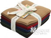 Darks Bella Solids Fat Quarter Bundle from Moda Fabrics SKU # 9900AB 22