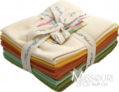Warm Pastels Bella Solids Fat Quarter Bundle from Moda Fabrics SKU # 9900AB 24