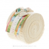Bella Solids  Ivory Junior Jelly Roll by Moda