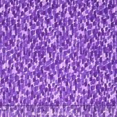 Blossoms - Purple Rounded Rectangles Yardage