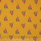 A La Carte - Posies Yellow Yardage