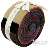 Bella Solids Darks Jelly Roll By Moda Fabrics SKU# 9900JR 22
