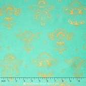 Garland - Angels Aqua Metallic Yardage