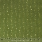Fresh Lilacs - Green Wavy Stripe Yardage