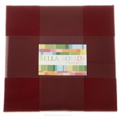 Bella Solids Burgundy Junior Layer Cake