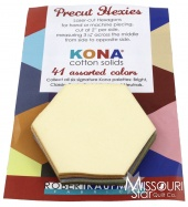 Kona Cotton - Pastel Hexie Cuts