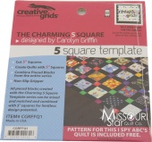 Creative Grids Charming 5 in Square Template