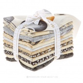 Winter's Grandeur Black Metallic Fat Quarter Bundle