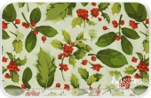 Poinsettia & Holly - Holly Mix Natural Yardage