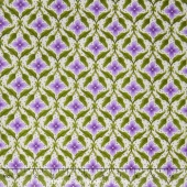 Fresh Lilacs - Cream Lilac Medallion Yardage