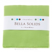 Bella Solids Lime Charm Pack by Moda