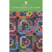 Flying Geese Log Cabin Quilt Pattern by MSQC