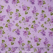 Fresh Lilacs - Purple on Violet Tossed Blooms Yardage