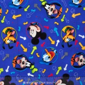 Mickey & Friends - Mickey Head Tossed Allover Yardage