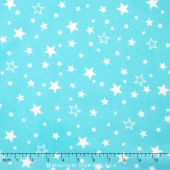 Cozy Cotton Flannels - Aqua Stars Yardage