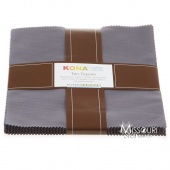 Kona Cotton - Coal Ten Squares