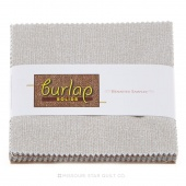 Burlap Solids Charm Pack